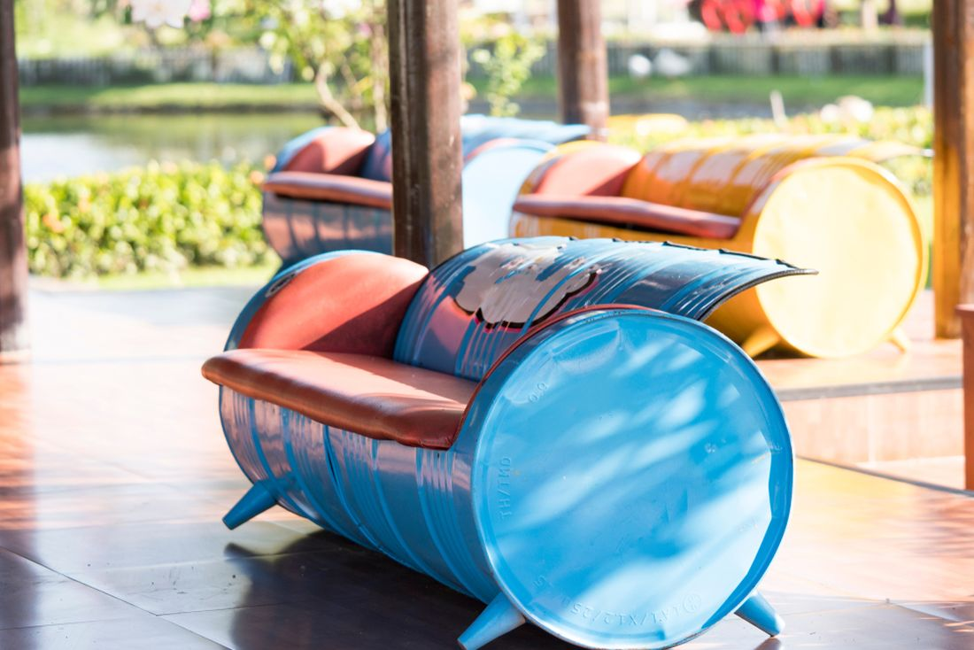 barelový nábytek,barel, nábytek ze sudu